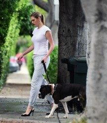 Kate Upton Walking Her Dog in West Hollywood - 5/13/17