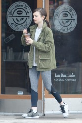 Lily Collins - Leaving Coffee Bean & Tea Leaf in LA 5/15/17