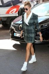 Hailey Baldwin - Arriving at The Martinez Hotel in Cannes 5/17/17