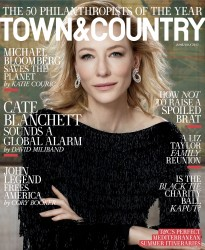 Cate Blanchett -                    Town & Country Magazine June/July 2017 Max Vadukul Photos.