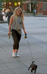 Hilary Duff - Walking her dog at Battery Park in NYC 5/16/17