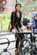 Lily Aldridge -                 Vogue Photoshoot Washington Square Park New York City June 2nd 2017.