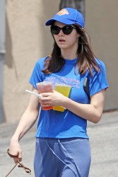 Alexandra Daddario - Walking her dog in LA 6/5/17