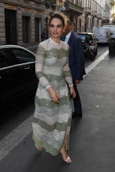 Lily James - Out in Milan 7/7/17